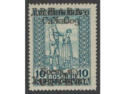 1918, 10H normální + obrácený přetisk, * po nálepce