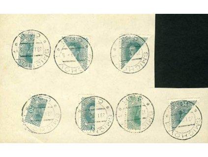 1919, DR Smíchov 23.1., pamětní lístek