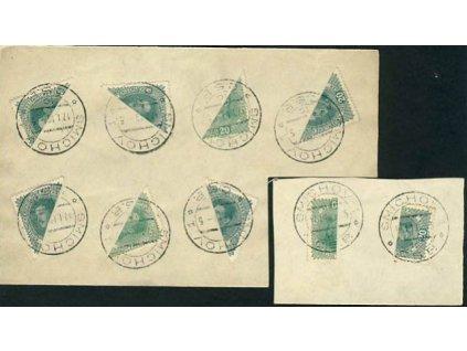 1919, DR Smíchov 17.1., 2 pamětní lístky