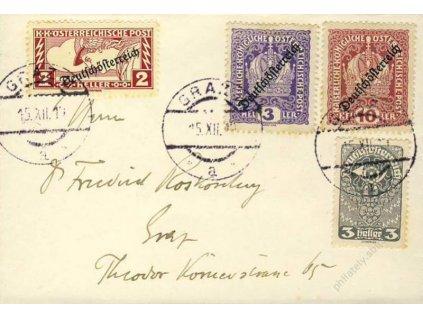 1919, DR Gratz, tiskopis, vizitkový formát