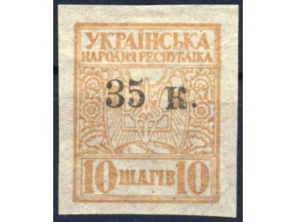 1919, Mauripol, 35K/10Sh žlutohnědá, * po nálepce