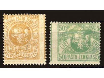 Lietuvos, 1919, 30 a 50Sk Znaky, posuny, *
