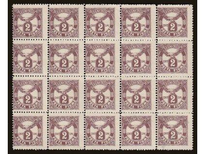 1919, 2C doplatní, 20blok, MiNr.13, **