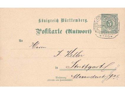 1919, Stuttgart, W.Veri Aussungs tag, dopisnice
