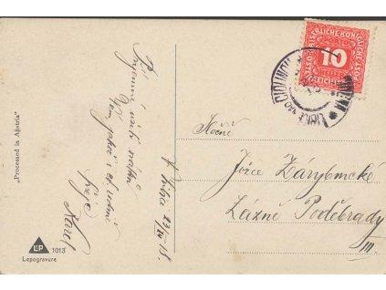 1918, DR Libice nad Cidlinou 28.12., pohlednice