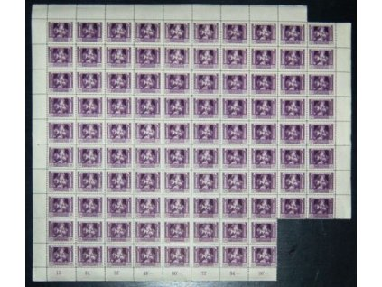 120h fialová, 96 ks blok, dvojitá perforace