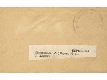 ČSPP na Rusi, 1920, dopis, Berezovka, potrháno