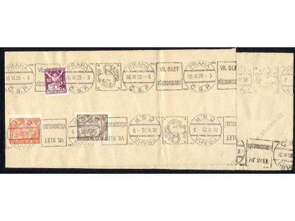 1920, Praha 30.6., VII. Slet Všesokolský, pamětní