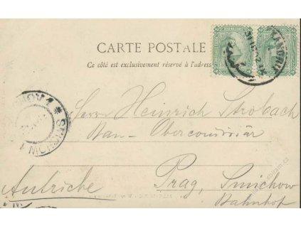 Egypt, 1902, DR Alexandrie, pohlednice Vodního tobogánu