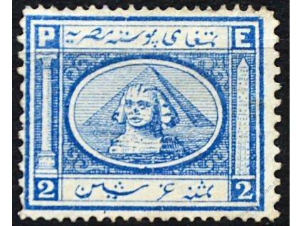 Egypt, 1867, 2Pa Sfinga, Mi.180Euro, reparovaná *