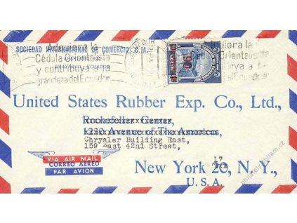 Ecuador, 1953, let. dopis do USA