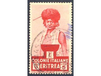 Eritrea, 1933, 5L karmínová, MiNr.212, razítkované