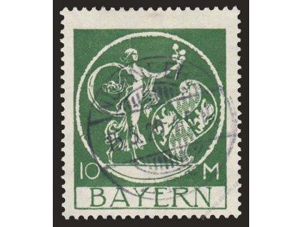 Bayern, 1920, 10M olivovozelená, MiNr.194, razítko