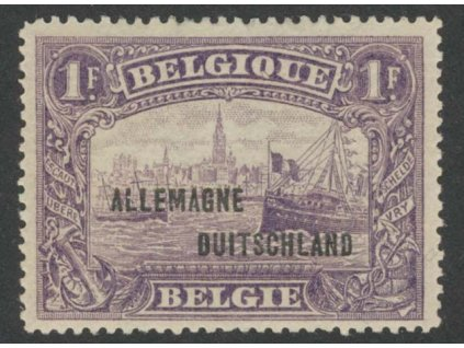1920, Allemagne, 1Fr fialová, MiNr.11, * po nálepce