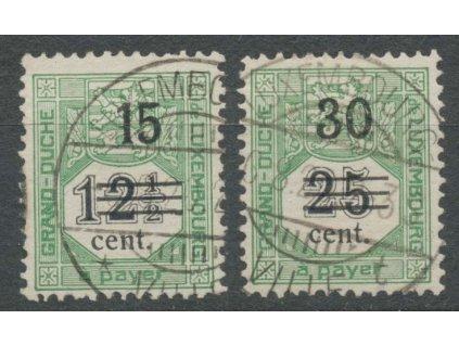 1920, 15(C)/12 1/2-30(C)/25C doplatní, razítkované