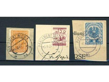1921/25, Wien, Parlament, 3 ks výstřižků