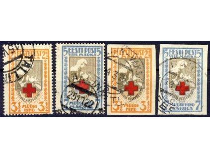 Eesti, 1921, 2 1/2-5M série Červený kříž, razítko