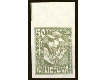 Lietuva, 1921, 50Sk nezoubkovaná, těžká *