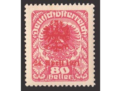 1921, Tiroly, 80H s přetiskem, lokální vydání, **
