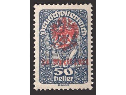 1921, Tiroly, 50H s přetiskem, lokální vydání, * po nálepce