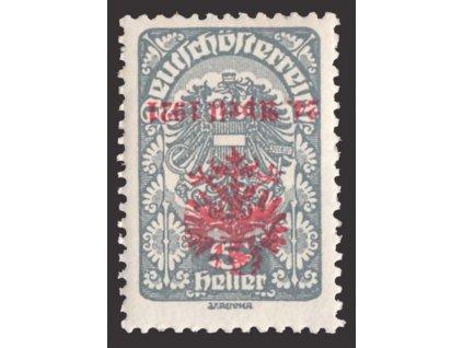 1921, Tiroly, 5H s převráceným přetiskem, lokální vydání, **