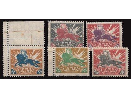 Lietuva, 1921, 3-100A koncové hodnoty, různé *