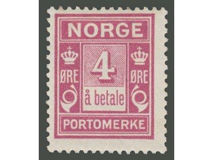 1921, 4Q doplatní, MiNr.7, * po nálepce