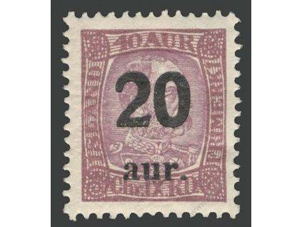 1921, 20 A/16 A Christian, MiNr.109, **