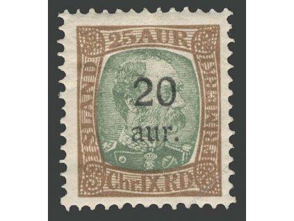 1921, 20 A/25 A Christian, MiNr.106, ** , archové lomy