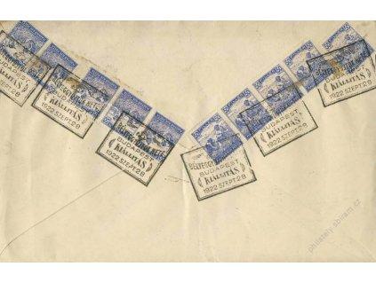 1922, Budapest, Kiállitás, R-dopis, stopy stáří