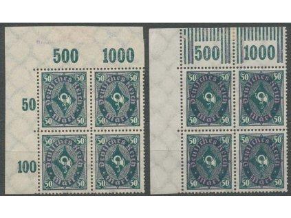1922, 50M Trubna, 2 ks 4bloků, MiNr.209, **/*