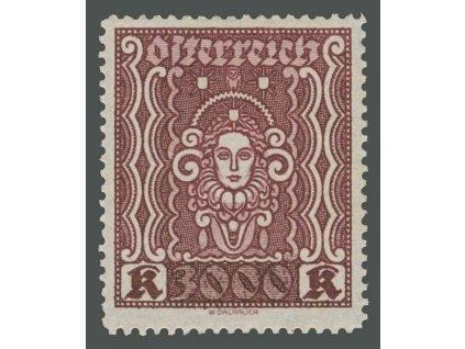1922, 3000Kr Frauenbild, MiNr.406A, * po nálepce