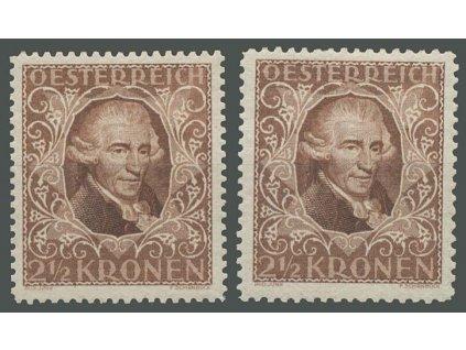1922, 2 1/2Kr Haydn, L 11 1/2 a 12 1/2, * po nálepce