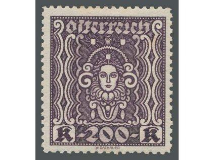 1922, 200Kr Frauenbild, L 11 1/2, * po nálepce
