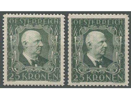 1922, 25Kr Bruckner, L 11 1/2 a 12 1/2, * po nálepce