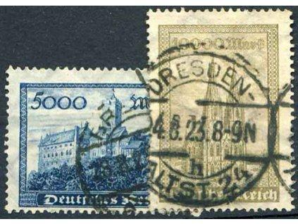 1923, 5000-10000M série, razítkované, ilustrační foto