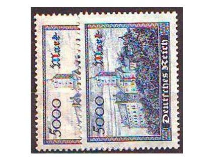 1923, 5000M modrá Wartburg, 2 ks, **