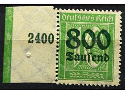 1923, 800Tsd/10Pf zelená, otisk lišty, **