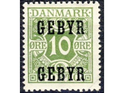1923, 10Q zelená, Verrechnungsmarken, * po nálepce