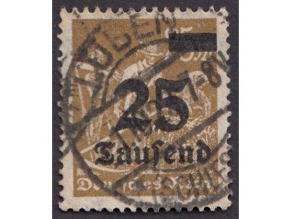 1923, 25M + 500M hnědá, MiNr.259, razítkované