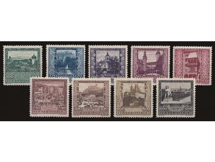 1923, 100-1000Kr série Města, MiNr.433-41, * po nálepce