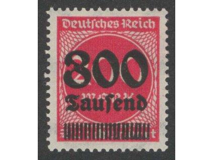 1923, 800Tsd/200M červená, DV - skvrna v 8, **