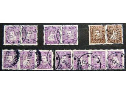 1924, 15 a 20Q 300.let Dánské pošty, razítkované
