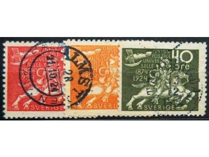 1924, 20Ö, 25Ö a 40Ö 50.let UPU, razítkované