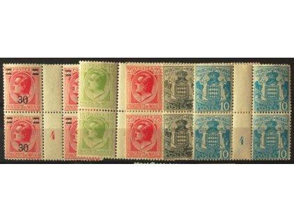 1924/26, 5 ks 4bloků s meziaršími, **