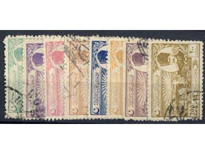 1924, 1 1/2-200Pia série, MiNr.799-806, razítkované