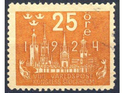 1924, 25Öre UPU, MiNr.163, razítkované, dv