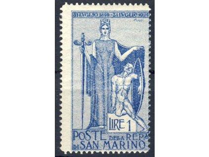 1924, 1L Alegorie, MiNr.103, * po nálepce