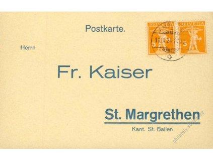 1924, DR Ambulant, firemní karta