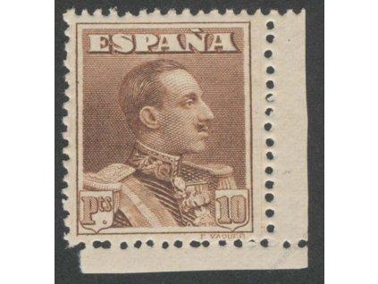 1924, 10Pta Alfons, MiNr.296A, ** , lehké vlomy